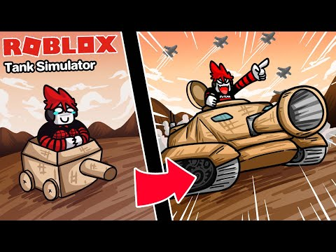 Roblox : Tank Simulator 💥 จำลองการขับรถถังระดับเทพ ยิงนัดเดียวบ้านระเบิด !!!
