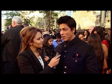 Shahrukh Khan with BBC News presenter Tasmin Lucia Khan at World Premiere  of Raavan - YouTube