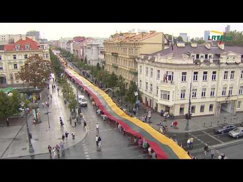 """Baltijos kelio himnas """"Bunda jau Baltija"""" (2014 08 23) HD"""
