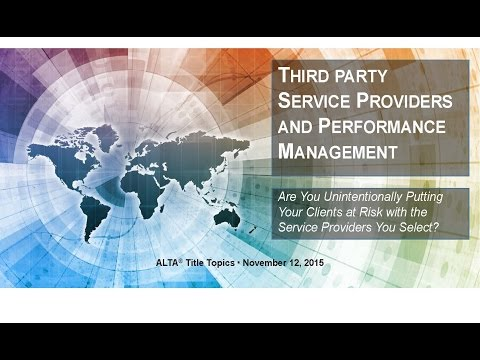 Title Topics:  Vendor Liability Managing Your Lender Scorecard