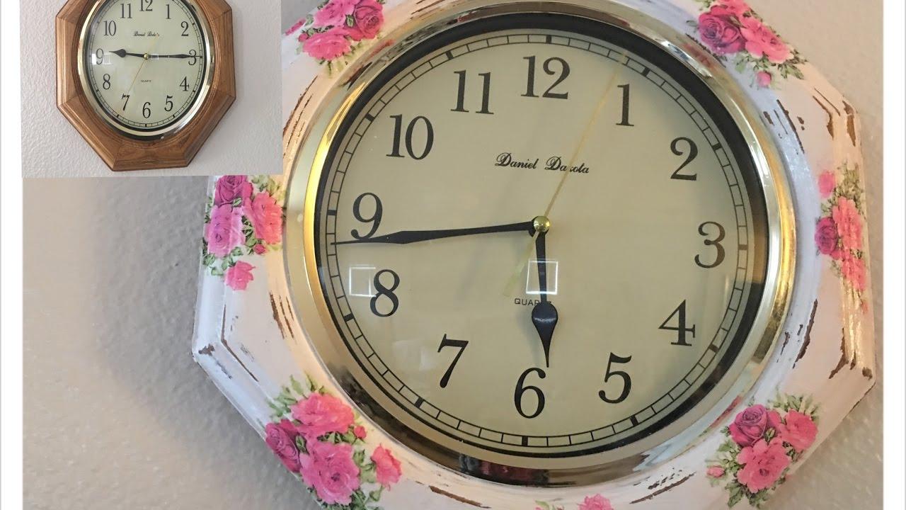 Diy renovacion de reloj de pared vintage youtube - Relojes de pared ...