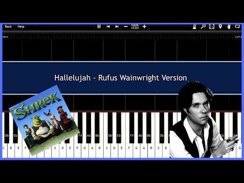 Hallelujah  Rufus Wainwright version Synthesia Tutorial Instrumental  Download