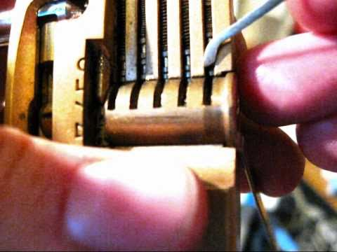 lockpicking tutorial - make your own tools + demonstration on a sawed open padlock (see inside!)