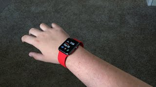 Apple Watch Sport Band (Red): Unboxing & Review