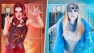 Hot vs Cold Zombie / 12 DIY Weird College Supplies