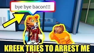 KreekCraft tries to ARREST ME AGAIN!!! | Roblox Jailbreak Winter Update
