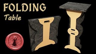 How to do an Origami Table - Amazing folding table you MUST have