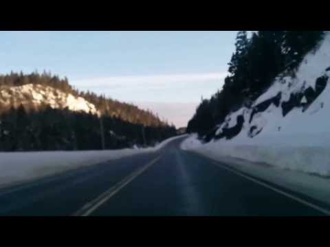 Driving through the mountains in Northern Ontario