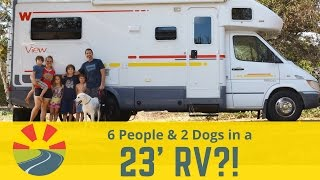 How A Family Of 6 (and 2 big dogs) live in a 23' Motorhome!
