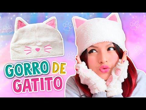 DIY ☆ HAZ TU GORRO OREJAS DE GATO KAWAII ☆ BEANIES CAT (SUPER ...