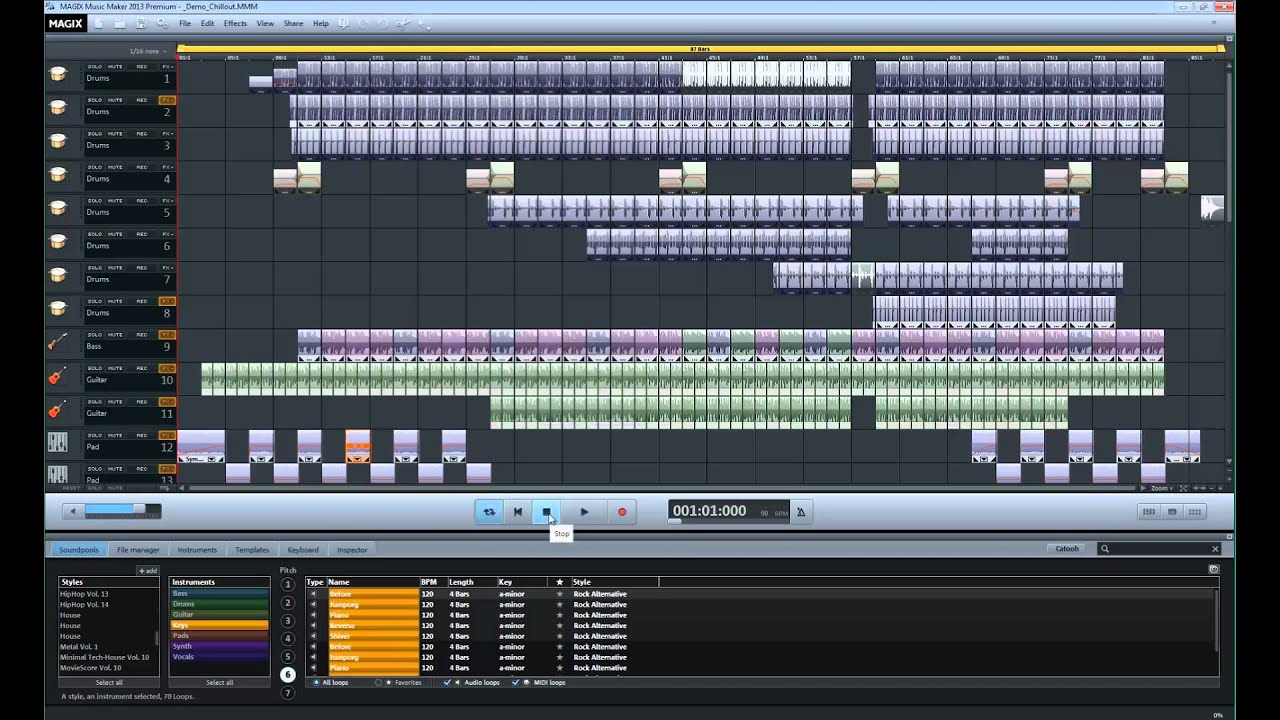 Magix Music Maker 2013 A Review Youtube