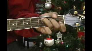 O Holy Night Guitar How To Play On Guitar Lesson EricBlackmonMusic Christmas Cover
