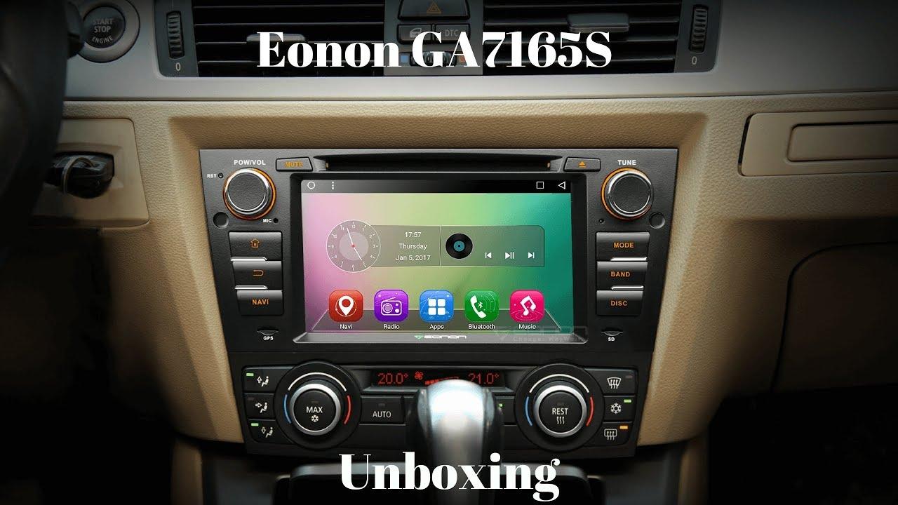 UnboxingEonon GA7165S Head Unit For BMW E90  YouTube