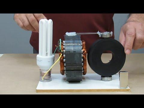 Free Energy Generator 220v  with Speaker Magnets - Perpetual Motiom