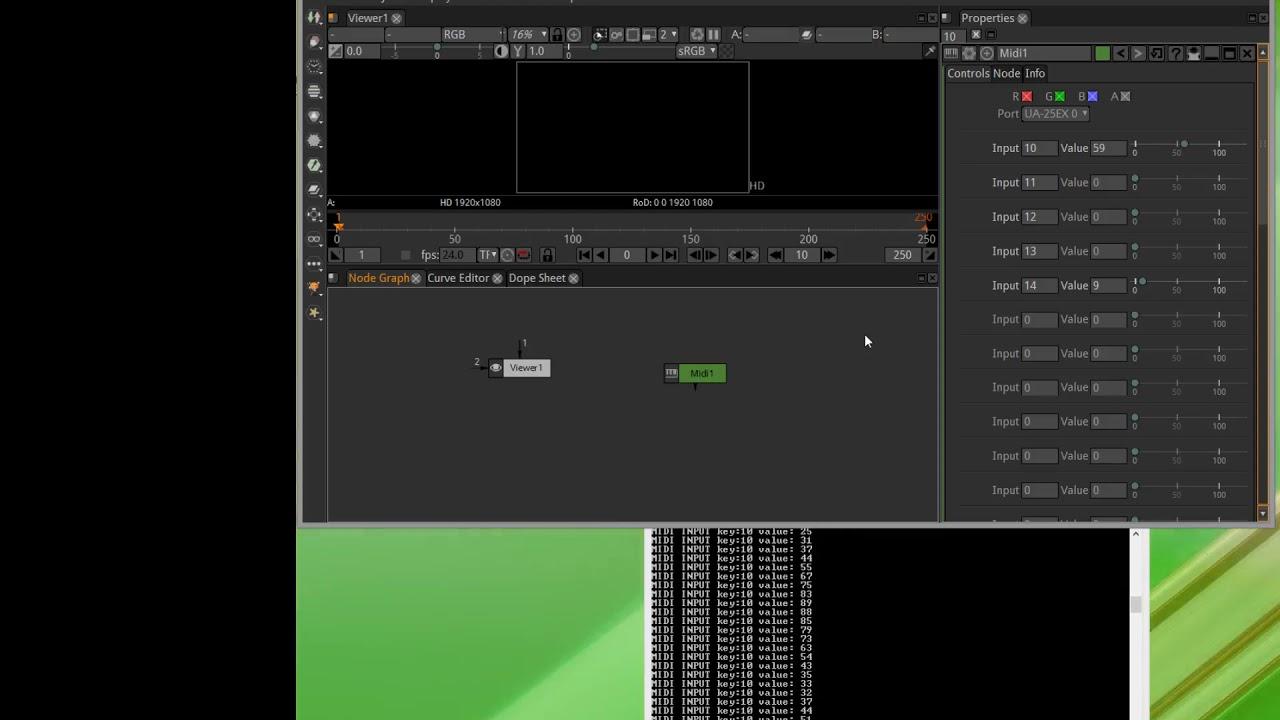 Natron MIDI Input