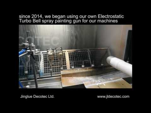 Fully Automatic Spray Painting With Electrostatic Coating System