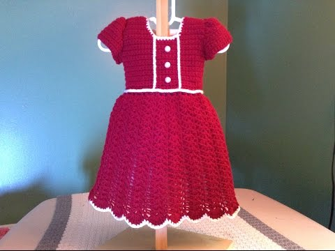 Free Crochet Pattern For Christmas Dress : How to Crochet a Baby Dress - Christmas Holiday - Shell ...