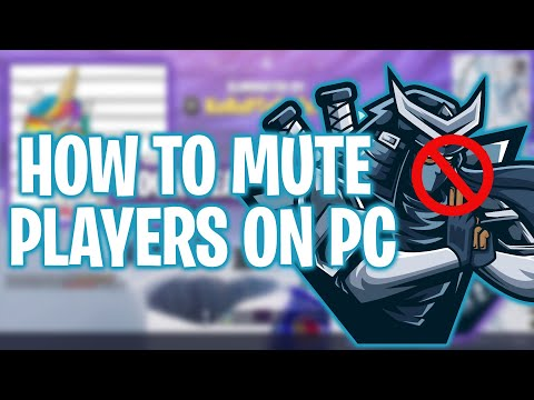 Fortnite | How To Mute Players On PC