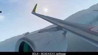 X Plane 11.31 / JAR DESIGN AIRBUS A320 Vueling Airlines/ / GCLA -GCXO /
