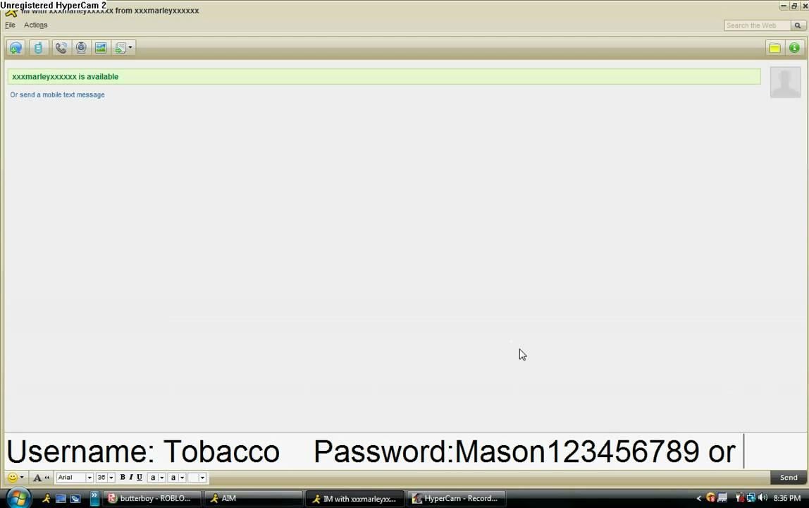 vuxvux password for roblox
