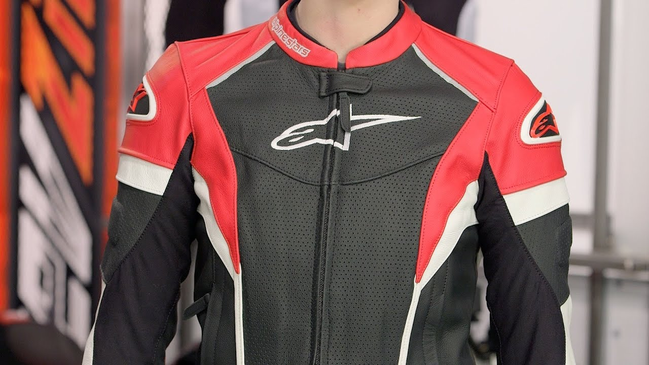 Alpinestars Leather Jacket >> Alpinestars Stella GP Plus R Perforated Leather Jacket Review at RevZilla.com - YouTube