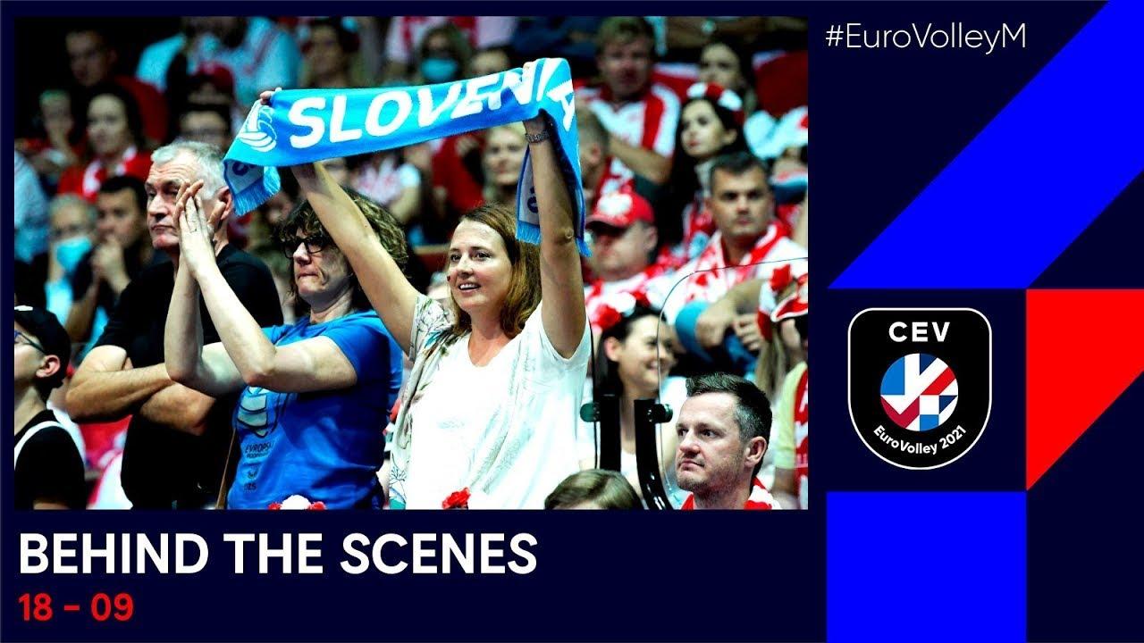 Semi-final day at Spodek, Slovenia beat Poland & Italy down Serbia   #EuroVolleyM