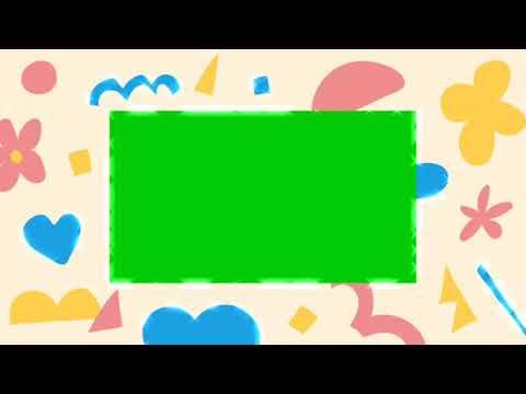 Cute border green screen รวมกรอบรูปน่ารัก ๆ ฉากเขียวแจกฟรี D-Share