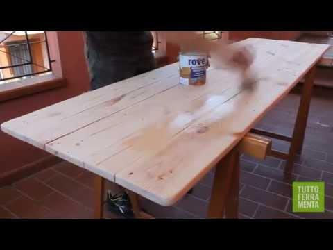 Come costruire un tavolo da giardino con i pallet   faidate online ...