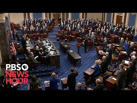 WATCH: Chief Justice Roberts swears in senators ahead of Trump impeachment trial