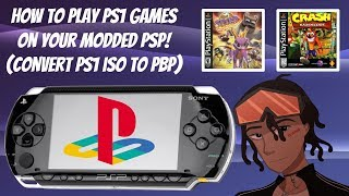 How To Play PS1 Games On Your Modded PSP! 🎮 (Convert PS1 ISO TO PBP) #PSPModding #PSP #PS1