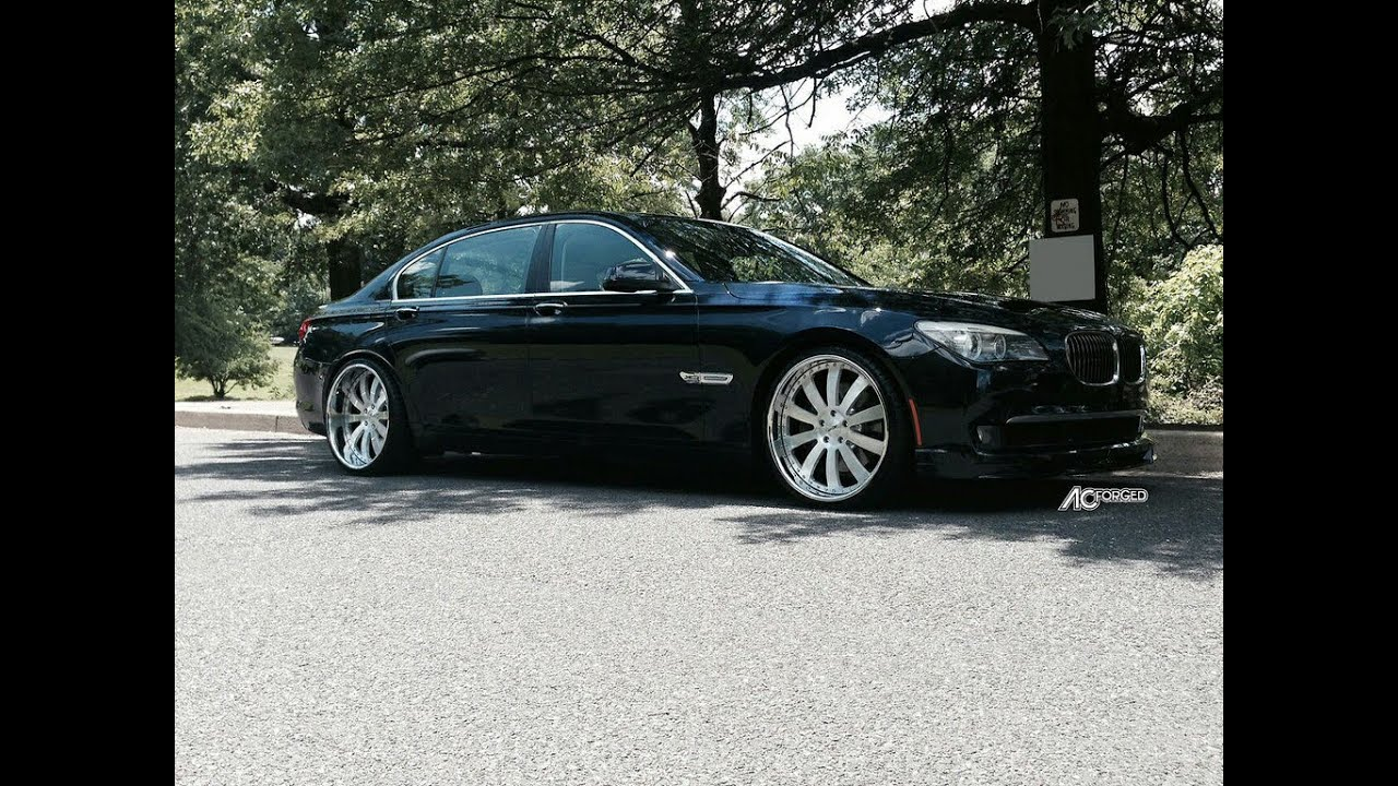bmw 750 li 2012 on 22 ac forged wheels youtube. Black Bedroom Furniture Sets. Home Design Ideas