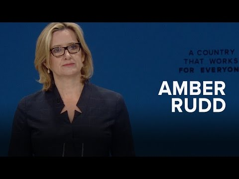 Amber Rudd: Speech to Conservative Party Conference 2016