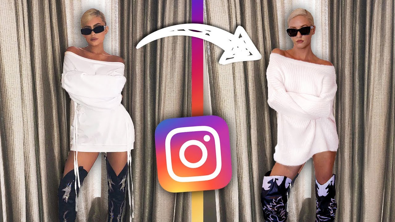 Recreating Kardashian Instagram Photos
