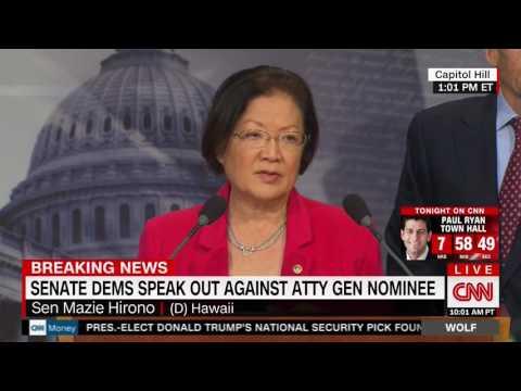 CNN: Senator Hirono Announces Opposition to Jeff Sessions Nomination