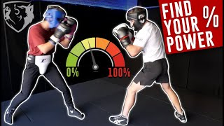 Find Your Power Percentages for Light/Hard Sparring