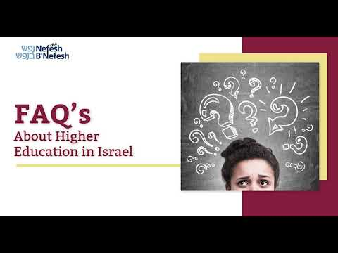 FAQS About Higher Education In Israel