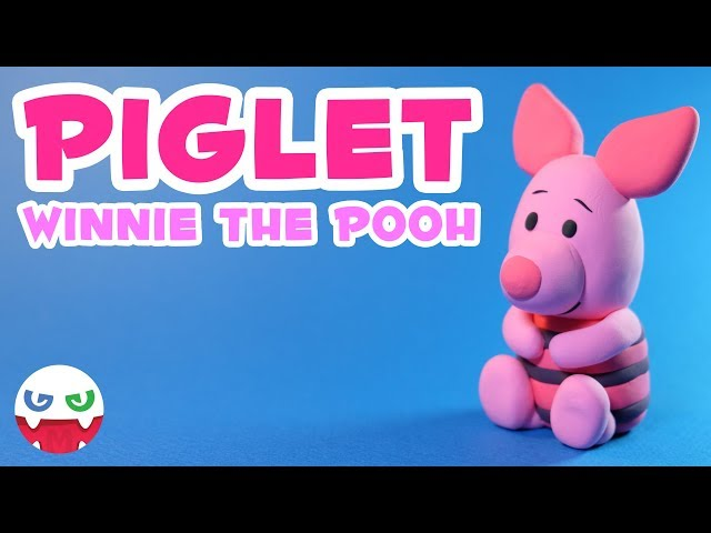 How to Make a Piglet with Clay [Winnie the Pooh]