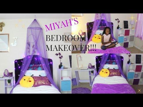💜Girly Bedroom Makeover!!!! |KIDS BEDROOM MAKEOVER Pt 2| TOUR!!!