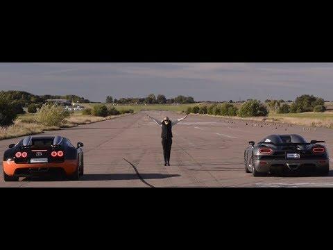uncut race koenigsegg agera r vs bugatti veyron 16.4 grand sport vitesse  standing start