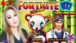 *NEW SKIN PANDA TEAM LEADER/SUSHI MASTER GAMEPLAY* FORTNITE BATTLE ROYALE GRIND!