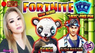 'NEW SKIN PANDA TEAM LEADER/SUSHI MASTER GAMEPLAY' FORTNITE BATTLE ROYALE GRIND!