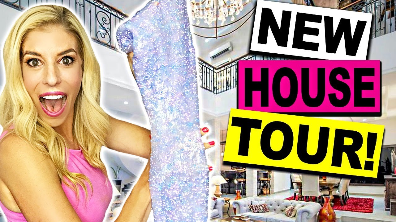 New House Tour And Making Crunchy Slime Youtube