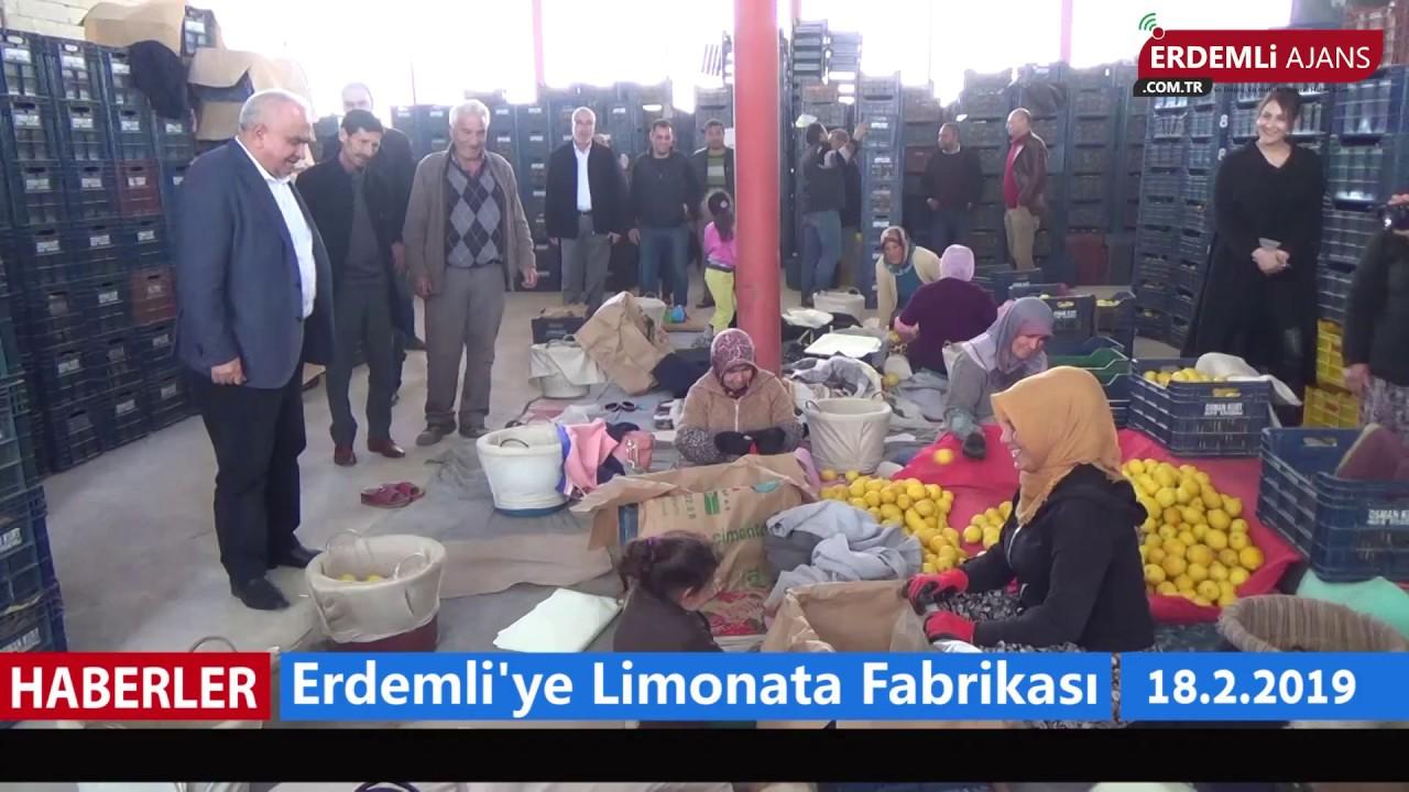 Erdemli'ye Limonata Fabrikası