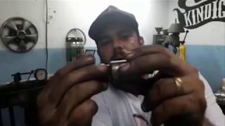 Fazendo embuxamento no torno de bancada