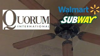 "52"" Quorum Capri Ceiling Fans, In The Steelyard Commons Walmart Subway."