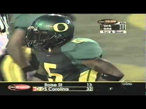 Wisconsin WR Lee Evans 48 yard catch vs. Oregon 9-01-2001