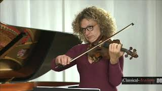 VIOLIN MASTERCLASS BACH PARTITA NO. 2 BWV 1004 - III. Sarabande - JANNA GANDELMAN