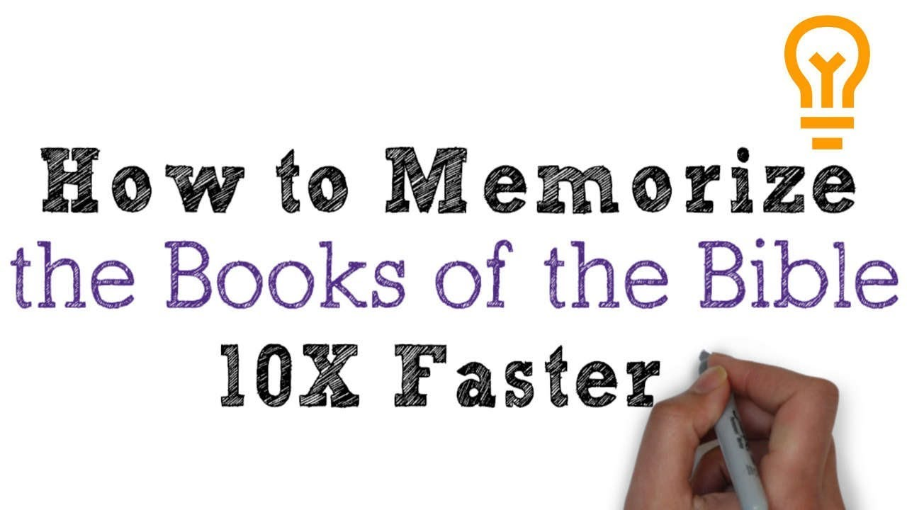 How to Memorize the Books of the Bible in Order (in Less than 1 Hour)