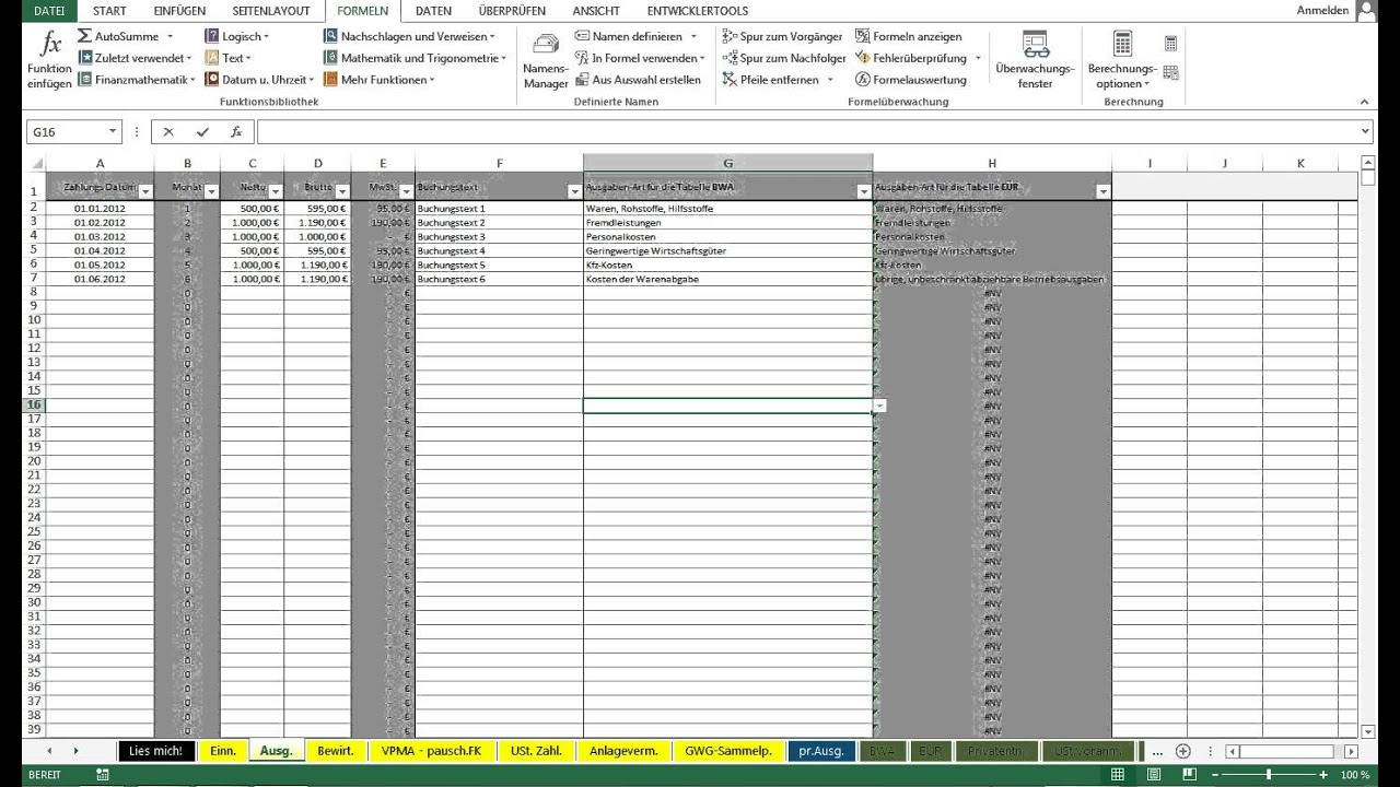 Ungewöhnlich Excel Buchhaltungsvorlagen Kostenlos Ideen - Beispiel ...