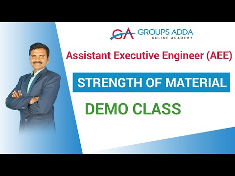 Strength of material Demo Class ||  Assistant Executive Engineer (AEE)  online class | Groupsadda